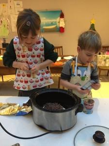 Festive Slow cooker fudge