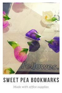 Sweet pea bookmarks with Fellowes