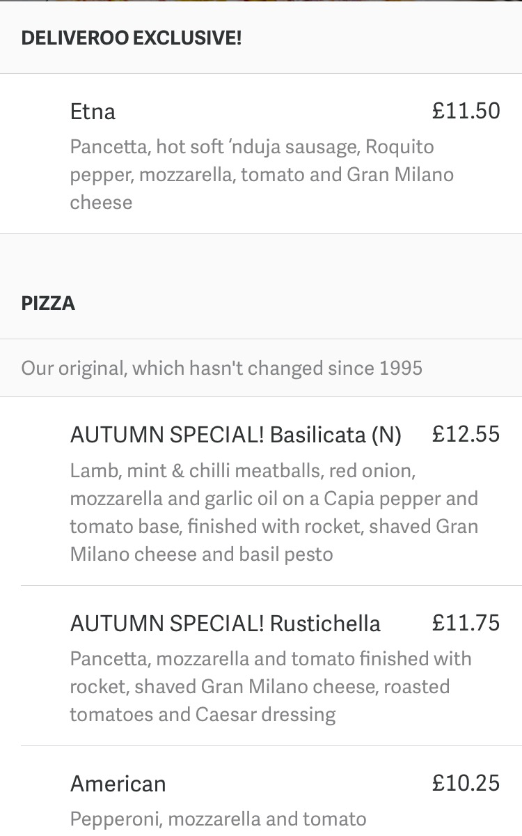 Etna Pizza With Pizza Express And Deliveroo Pink Pear Bear