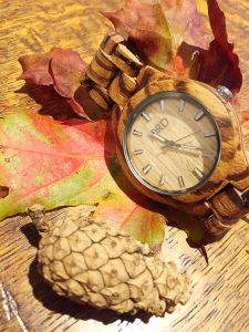 Jord wooden watches include this, from the fieldcrest range in zebrawood and maple.