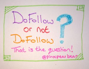 Nofollow links versus dofollow links.