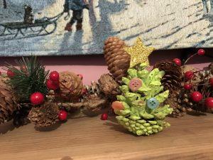 Pinecone Christmas trees.