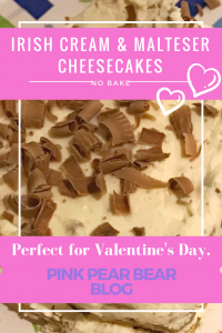 No bake irish cream and malteser cheescakes