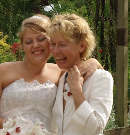 My beautiful Mum and I on my wedding day looking very nicely dressed when I usually suck at being classy!