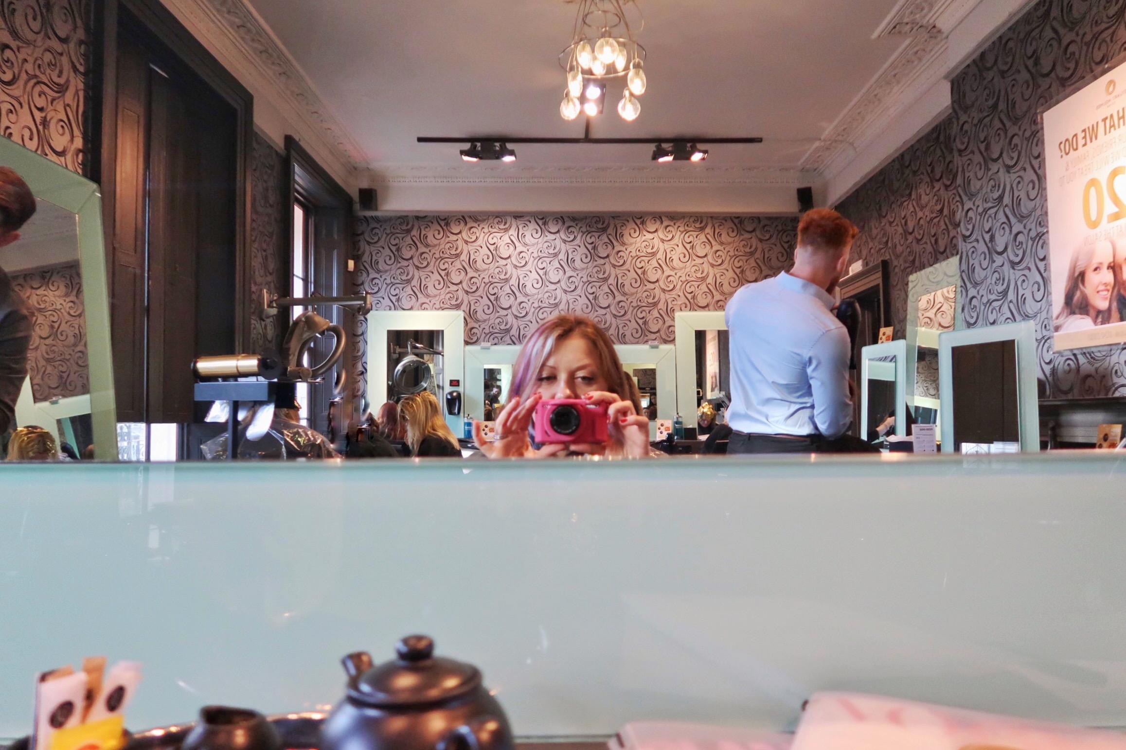 My hair makeover at the Stuart Holmes salon.