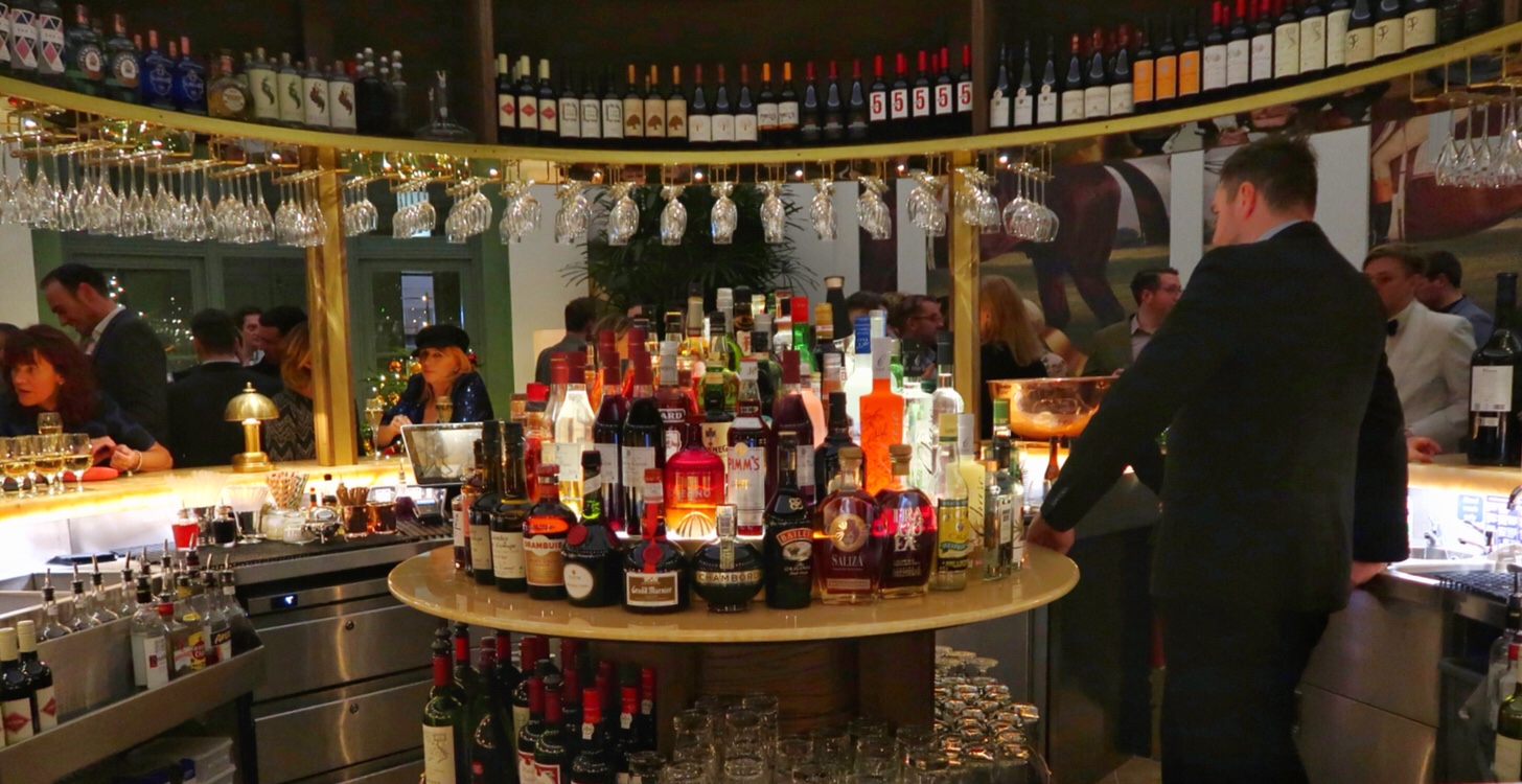 The incredibly well stocked bar at the Ivy, Cheltenham
