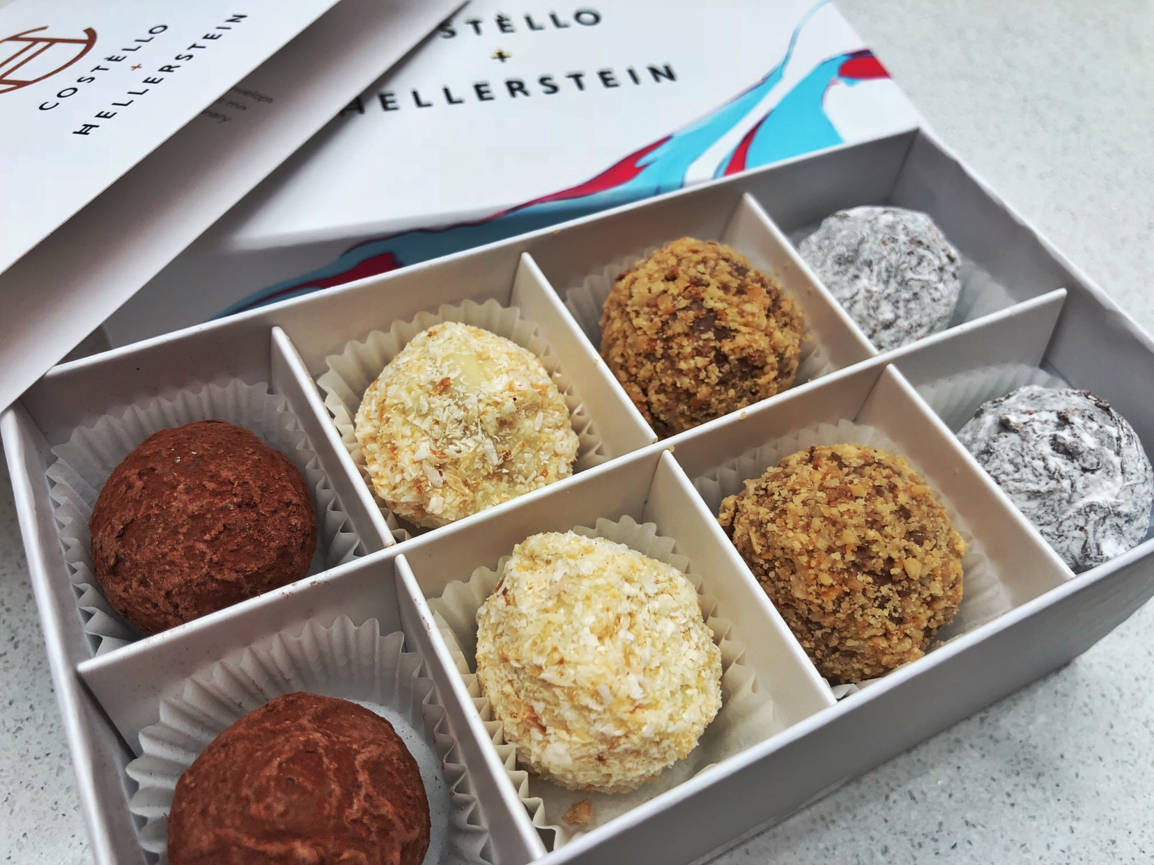 A photo of some delicious artisan truffles from Costello and Hellerstein who will be at the Maven Connex creative blogger morning in Cheltenham.
