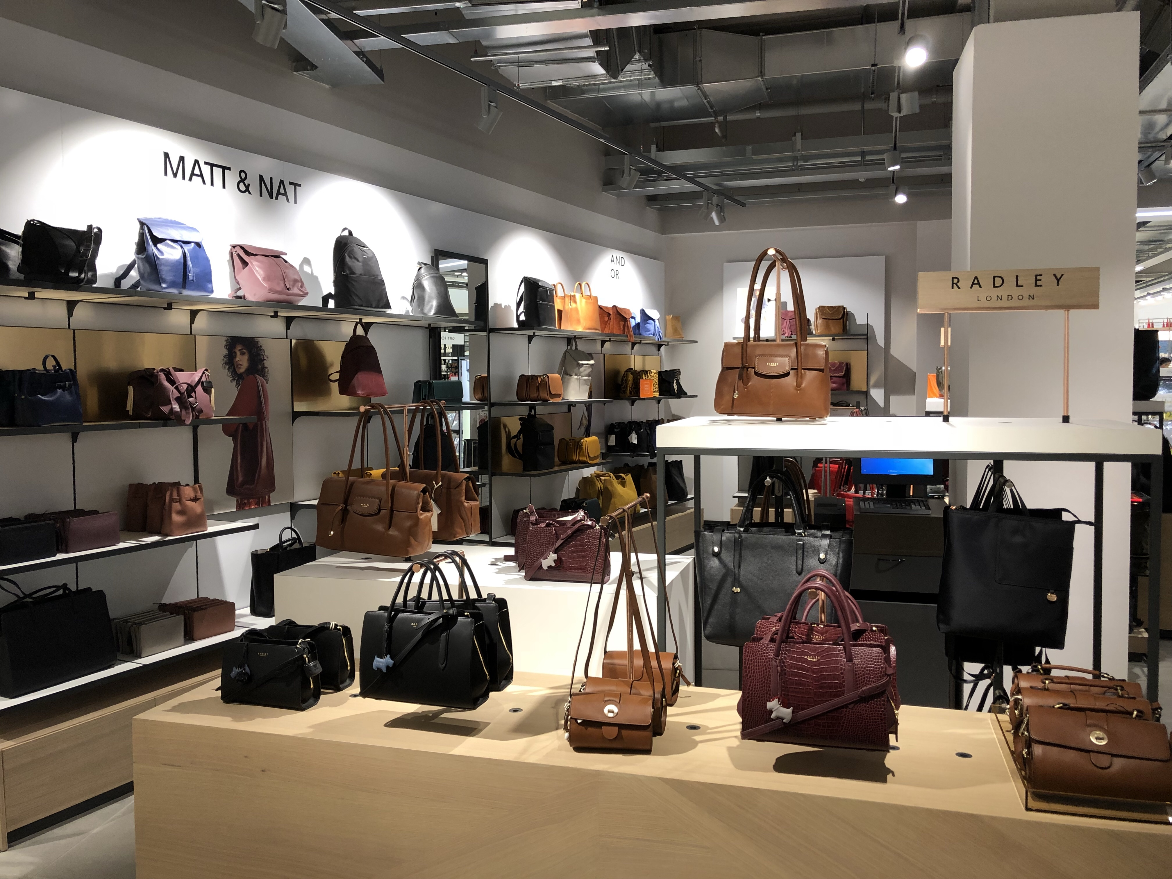 Gorgeous selection of bags at John Lewis Cheltenham