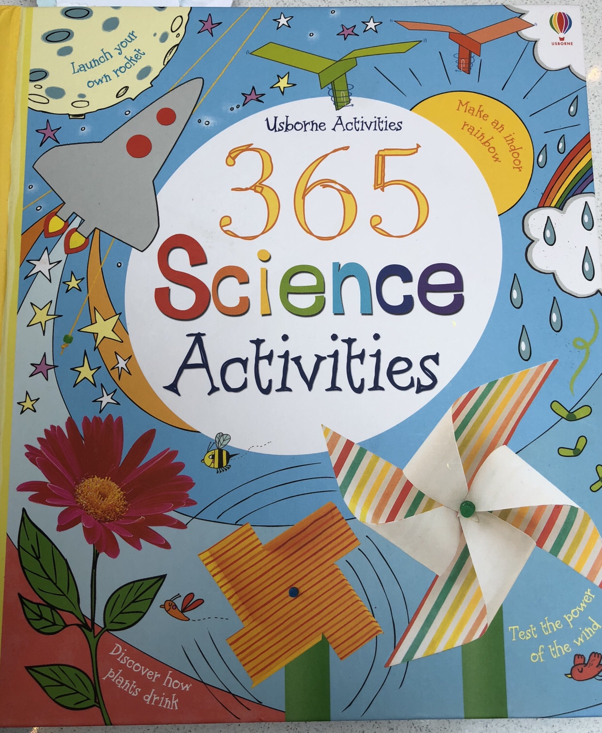 The Usborne 365 Science activity book that I got a lot of my Science Birthday Party ideas from.