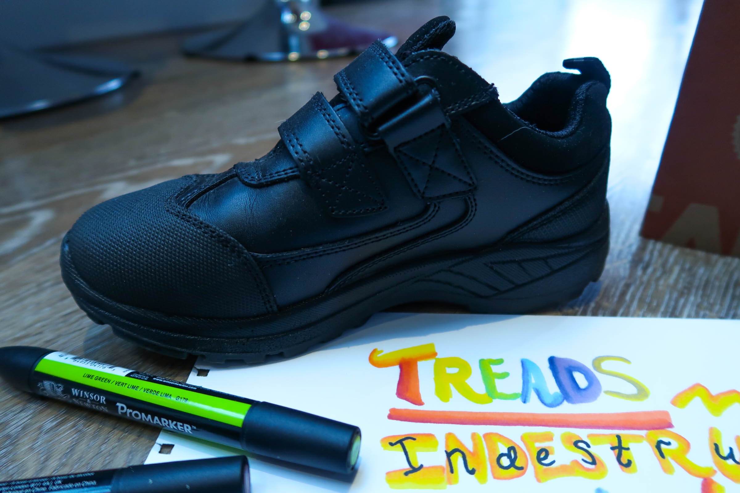 Treads indestructible school shoes