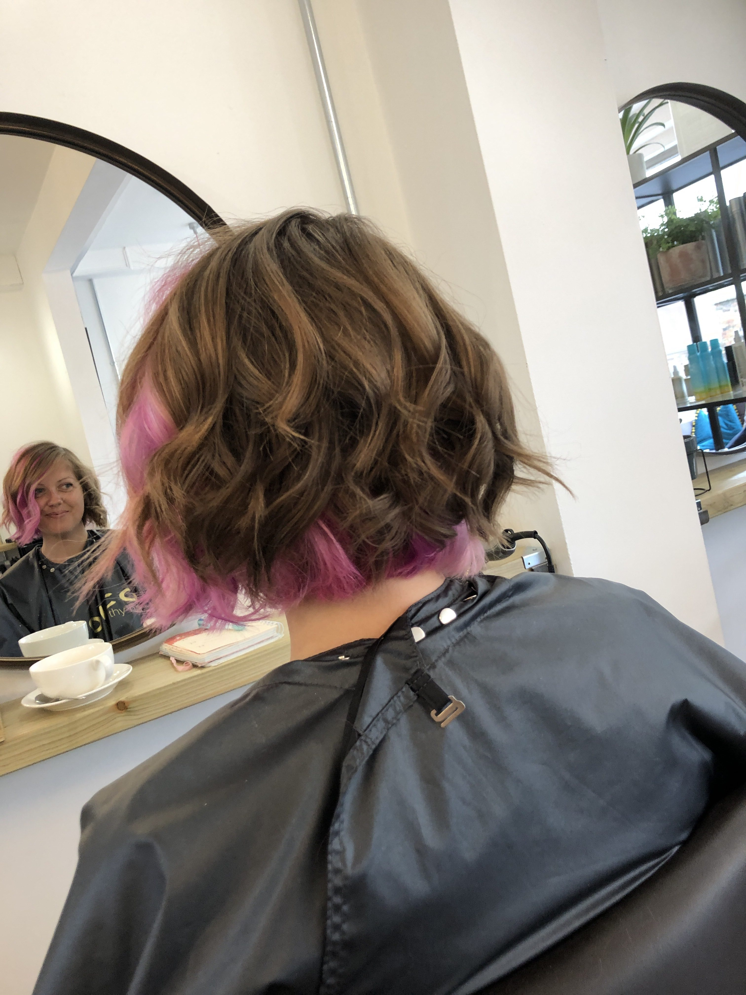 A photo of the back of my hair after a very clever colour and cut at Hiley Hair Club in Cheltenham.