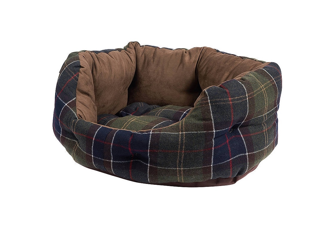 Stock image of a Barbour dog bed for my Christmas gifts for dogs post.